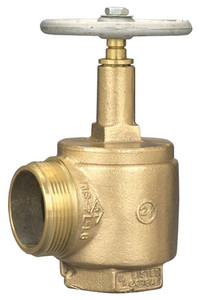 Dixon  2 1/2 in. NPT x 2 1/2 in. NH (NST) 500# Brass Angle Hose Valve