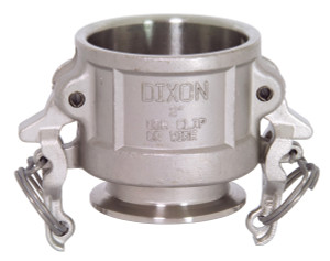 Dixon Sanitary 316 Stainless Cam & Groove Coupler X Clamp Ends