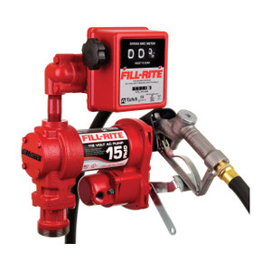 Fill-Rite FR611H 115V AC Transfer Pump w/ Meter and Manual Nozzle - 15 GPM