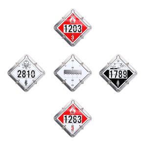 Labelmaster Duo-Flip 4-Legend Tanker Placard System - Aluminum