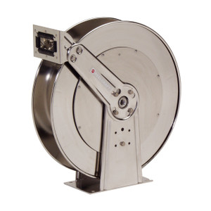 Reelcraft Series 8000 Stainless Steel Spring Retractable Reel - Reel Only - 3/4 in. x 75 ft.