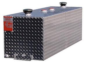 72 Gallon DOT Aluminum Rectangular Split Two Fuel Transfer Tank