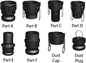 1 in. Easy Seal Polypropylene Camlock Couplings