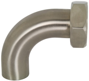 Dixon Sanitary B2FP Polished 90° Plain Bevel Seat with Hex Nut x Weld Elbows