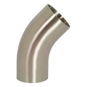 Dixon Sanitary B2KS Series Polished 304SS 45° Weld Elbows w/ Tangent