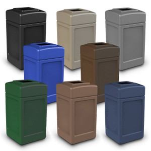 Commercial Zone 42 Gallon Square Waste Containers