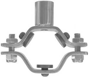 Dixon Sanitary B24RGC Hex Hanger with Nitrile Grommets and Coupler
