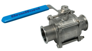 Dixon Sanitary Dixon Sanitary 2-Way 3 Piece Non-Encapsulated Ball Valves
