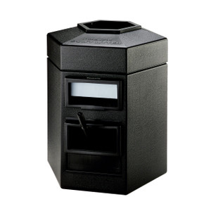 Commercial Zone 35 Gal Hex Waste/Windshield Units (Black)