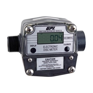 GPI LM-300-Q6N 1 in. NPT Digital Oil Meter - Gallons, Quarts, Pints and Liters