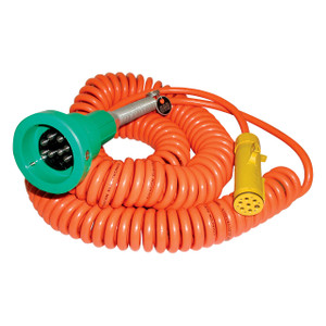 Civacon 7320-7320 Green Thermistor Plug, Coiled Cord, and Yellow Break-Away Plug w/ 2 J Slot & 8 Contact Pins