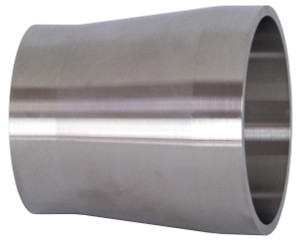 Dixon Sanitary B19WX Series 316L Stainless Tube OD Weld x Schedule 10S Weld Adapters