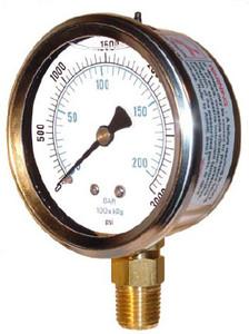 Kodiak 2 1/2 in. Liquid Filled Pressure Gauges