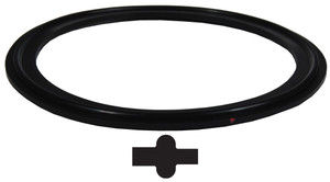 Dixon Sanitary Buna-N Pipe Gaskets - Black