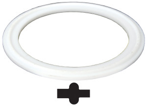 Dixon Sanitary (PTFE) Pipe Gaskets - White