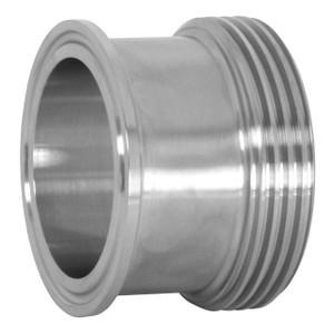 Dixon Sanitary 17MP-15 Clamp x Threaded Bevel Seat Adapters 304 SS