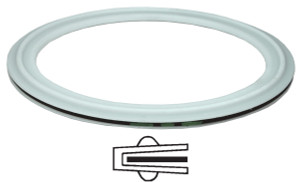 Dixon Sanitary PTFE Envelope Clamp Gaskets w/ EPDM Filler