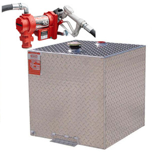 DOT Certified For Gas Or Diesel 55 Gallon Transfer Tank w/ Fill-Rite FR1210 Pump