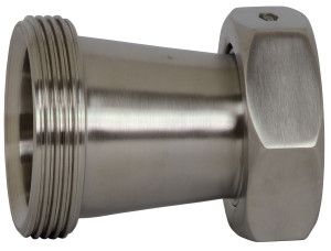 Dixon Sanitary 31TP Threaded Bevel Seat x Plain Bevel Seat Concentric Reducers w/ Hex Nut