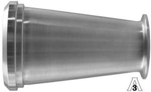 Dixon Sanitary B14C31 Plain Bevel Seat x Clamp Concentric Reducers - 304