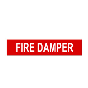 "Marking Services Self-Adhesive Pipe Markers - Legend ""Fire Damper"""