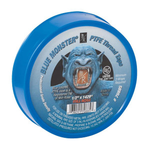 Mill-Rose Blue Monster PTFE Tape - 1/2 in. x 1429 in. Roll