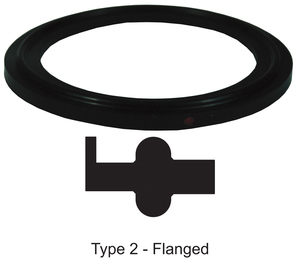 Dixon Sanitary Flanged Buna-N Gaskets - Black