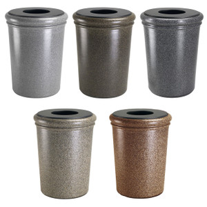 Commercial Zone 50 Gallon StoneTec Waste Containers