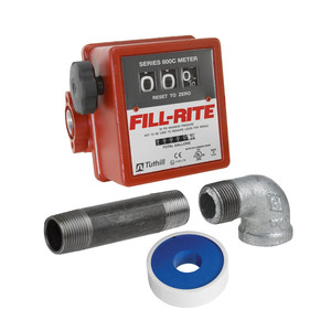 Fill-Rite 807C 3/4 in. Heavy Duty Mechanical Flow Meter w/ JME Install Kit (Gallons)