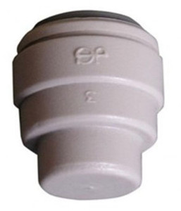 John Guest Gray Inch Acetal Fittings - End Stops