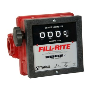 Fill-Rite 901C 1 in. NPT Mechanical Heavy Duty Flow Meter (Gallons)