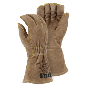 Majestic Leather Straight Thumb Kevlar Sewn Welder Gloves Large