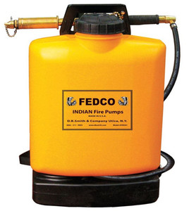 Fedco Fire Pump and 5 Gallon Poly Tank