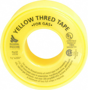 Gasoila Thread Tape Yellow for Gas