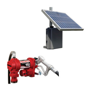 Fill-Rite FR1204H 12V DC Transfer Pump Assembly With Tycon RemotePro Outdoor Solar Power System - 15 GPM