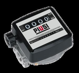 PIUSI K44 1 in. NPT 4-Digit Mechanical Diesel Flow Meter (Gallons)
