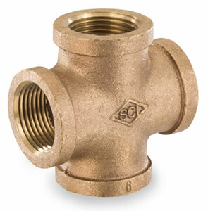 Smith Cooper 125# Bronze Lead-Free 1/4 in. Cross Fitting -Threaded
