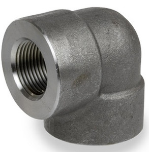 Smith Cooper 3000# Forged Carbon Steel 1/8 in. 90° Elbow Pipe Fitting -Threaded