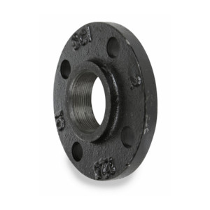 Smith Cooper 125# Cast Iron Black Threaded Companion Flange