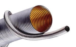 Kuriyama Hose Tec HT4000 Series LT-Medium Weight Galvanized Steel (Unlined) Interlocked Metal Hose