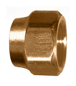 Gas-Flo Brass S.A.E. 45° Flare Short - Standard Forged Nut