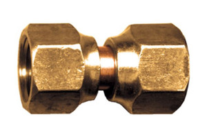 Gas-Flo Brass S.A.E. 45° Flare Tube Coupling - Swivel Flare