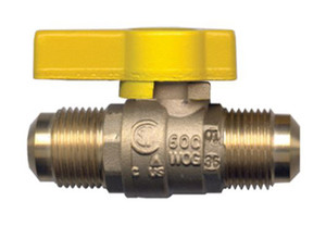 Gas-Flo Flare Union Gas Cock Forged Brass Ball Valves