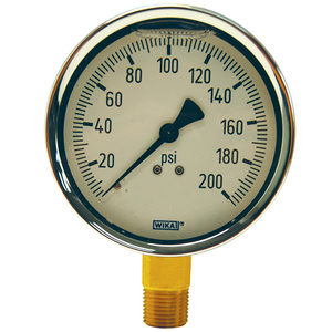 Dixon 2 1/2 in. Face Lower Mount Brass Liquid Filled Gauges