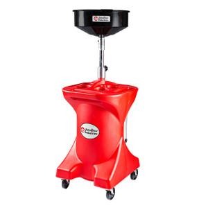 JohnDow 27 Gallon Duluxe Poly Pump Assist Portable Oil Drain