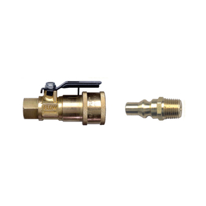 Gas-Flo Recreational Vehicle Brass Valved Propane Quick Disconnect
