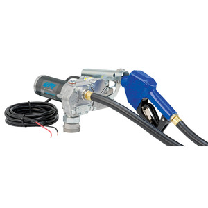 GPI M-150S-AU 12V DC Fuel Transfer Pump w/ Automatic Nozzle - 15 GPM