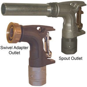 Dixon 1 1/4 in. Ball Nozzle with Spout Output for Bulk Delivery
