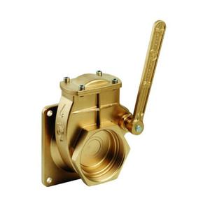 Metaltecnica  MZ Brass 4-Bolt Flange x NPT Lever Valves