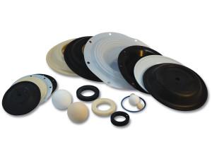 Elastomer Replacement Parts for Wilden 1 in. AODD Pumps